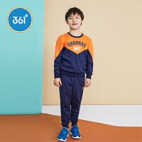 【1件2折到手价:73.8】361度 童装男童长袖套装春季新品大童卫衣裤子两件套 N51833472