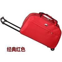 手提包男旅行健身包 时尚防水手提拉杆包旅行包男女通用旅行袋学生行李包大容量22寸出差拖包