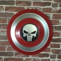 美国队长盾牌全金属工业风铁艺复古怀旧墙上壁饰壁挂墙面装饰盾牌SN1778礼物