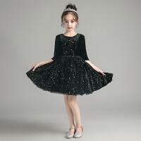 儿童礼服女童生日公主裙洋气蓬蓬纱花童主持人钢琴表演服秋