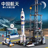 乐高积木拼装儿童玩具男孩子军事火箭发射基地拼图2020新品礼物10