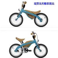 新款宝马原厂儿童自行车 14寸平衡车一车两用 德国进口现货包顺丰 蓝褐色+附件包 当天顺丰发出 14寸