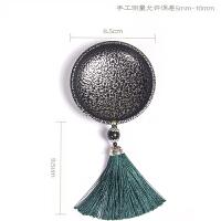 中式创意迷你烟灰缸复古装饰个性家居摆件时尚礼品客厅工艺品新品 银色+绿色