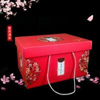 厂家定做年货礼盒现货手拎新年礼品盒春节坚果包装盒定制LOGO