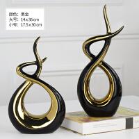 电视柜摆件现代简约 家居创意抽象陶瓷工艺品客厅酒柜装饰品摆设