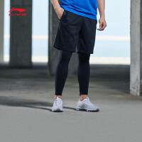 李宁短卫裤男士2018新款训练系列男装短装夏季针织运动裤AKSN261