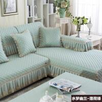 欧式沙发垫布艺坐垫夏季四季纯色组合通用加厚沙发套罩巾定做
