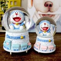 叮当猫水晶球旋转音乐盒八音盒创意哆啦A梦生日礼物女生闺蜜礼品