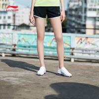李宁运动短裤女士2018新款训练系列薄款女装夏季梭织运动裤AKSN168