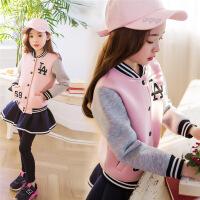 女童秋款套装冬韩版亲子装母女中大童时尚棒球服外套裙裤套潮