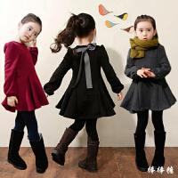 韩版女童秋冬新款连衣裙加绒加厚纯棉长袖中大儿童打底公主裙