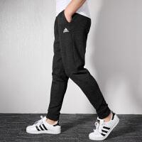 Adidas阿迪达斯男裤 2019秋季新款针织运动透气休闲收口长裤DU1148