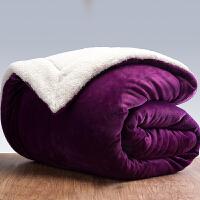 家纺2017秋冬季款毛毯被子加厚双层法兰绒盖毯双人羊羔绒毯子保暖珊瑚绒毯床上用品