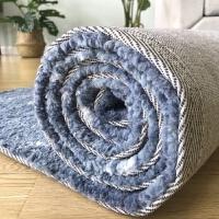 北欧蓝渐变地毯客厅沙发茶几地垫 卧室高毛简约现代家用床边毯 蓝色渐变