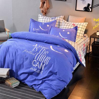 被褥套装六件套床上用品单人高中学生宿舍6件套床上铺盖套三件套