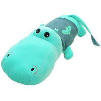 河马公仔睡觉抱枕鳄鱼毛绒玩具布娃娃枕头可爱