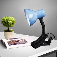 迷你学生台灯学习夹式台灯护眼卧室阅读可夹式夹子小台灯 蓝色 3瓦LED灯泡