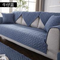 纯色北欧沙发坐垫纯棉布防滑现代简约四季全棉沙发垫套巾