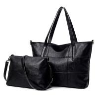 女士单肩包斜挎包单肩新款斜挎包简约休闲大包手提包软皮大容量大气黑色