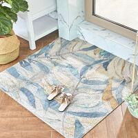 美式丝圈地垫家用进门防滑垫地毯简约现代北欧入户门蹭脚垫可剪裁