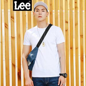 Lee男装 2018春夏新品黑标白色短袖T恤L30270K99K14