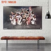 阿伦・艾弗森篮球球星球迷海报装饰画墙纸男生宿舍卧室床头装饰画 50*30