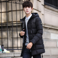 棉衣外套男冬季中长款男士2017新款男冬装韩版修身潮流棉袄子