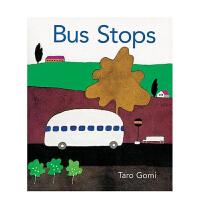 Bus Stops巴士到站啦 英文原版儿童绘本 启蒙读物