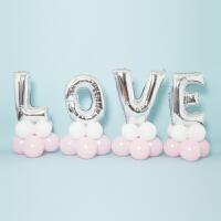 婚庆求婚表白布置气球造型32寸love字母气球婚房气球背景墙装饰