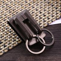 不锈钢腰挂钥匙圈汽车钥匙扣男穿皮带金属钥匙链创意礼品锁匙扣钥匙圈挂件汽车用品