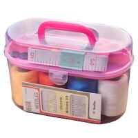 家用针线盒套装旅游用品多用途居家便携缝纫缝补工具盒收纳包颜色随机 颜色随机