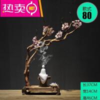 中式摆件喷泉财神简约佛像办公室貔貅摆设婚礼物一对鱼缸花瓶天然供奉茶室佛像SN7095