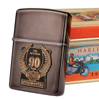 芝宝Zippo正品防风打火机 亚冰贴章 哈雷90周年纪念款 绝版收藏纪念款
