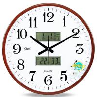 现代简约挂钟客厅挂表时尚万年历挂钟卧室时钟表石英钟静音日历钟表