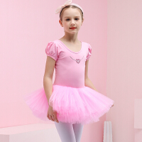 儿童舞蹈服夏季短袖芭蕾舞裙女孩演出服女童练功服练舞服中国舞服
