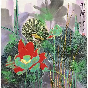 黄永玉《双荷》著名画家