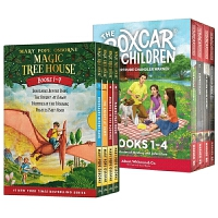 正版 Magic Tree House 1-4册全套 神奇树屋+棚车少年1-4册盒装 英文原版绘本 The Boxcar