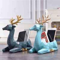 物有物语 实用摆件 树脂工艺品简约现代创意家居电视遥控器玄关收纳桌面装饰摆件 鹿