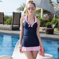 新品泳衣女分体裙式平角裤泳装两件套韩版修身 支持礼品卡支付