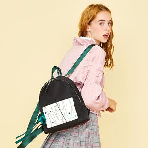 【可使用礼品卡】2018新款书包森系双肩包女韩版学院风学生百搭小清新少女背包