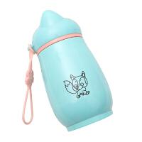 定制广告杯礼品杯公司活动开业保温杯订做幼儿园水杯杯子印字logo 紫色 狐狸300ml