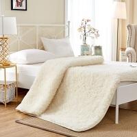 家纺羊毛床垫1.8m床加厚保暖床褥子冬季学生0.9单双人1.5米