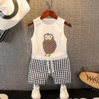 宝宝夏装无袖套装婴幼儿童夏季背心童装男童夏天休闲运动两件套