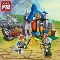 儿童拼装玩具启蒙积木城堡未来骑士团幻影忍者610岁