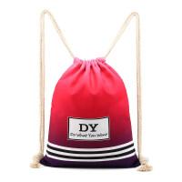 新款抽绳包双肩包背包男女通用轻便书包运动健身包旅游户外运动束口袋