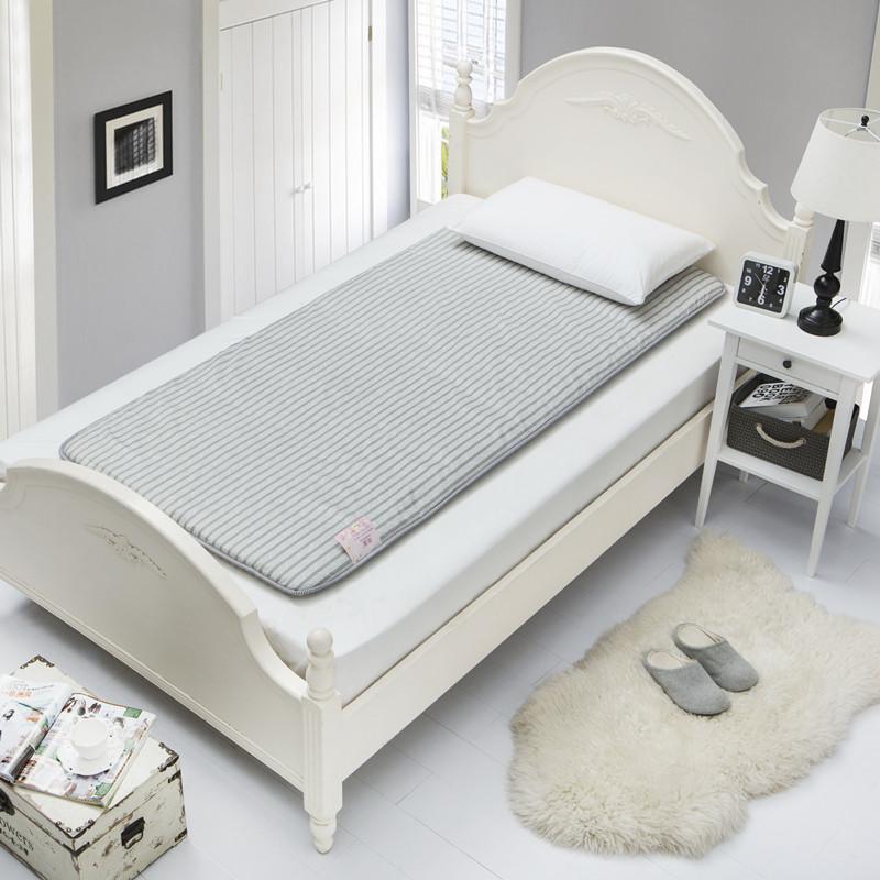 学生床褥子榻榻米单人床垫学生宿舍床垫90加厚垫被上下铺床垫j 条纹 90CM*195CM