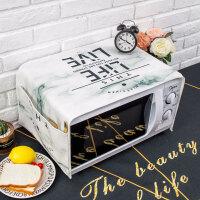 北欧简约大理石微波炉盖布罩格兰仕美的烤箱盖巾长方形 35X95cm