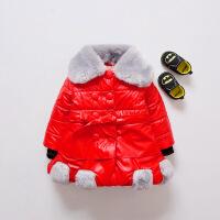 女童皮衣pu冬季公主1-3岁7女宝宝冬装皮外套加厚冬天女宝上衣冬款