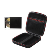 移动光驱硬壳包笔记本外置DVD光驱保护套便携移动刻录机防震收纳 黑色