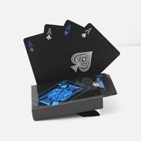 近景魔术扑克牌黑色水塑料德州扑克限量特色扑克收藏 63*88